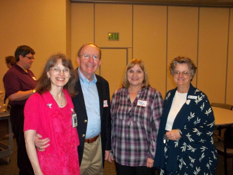Mary Peters (Healthline President), gentleman, Kathy Broyles, Bobbie Long