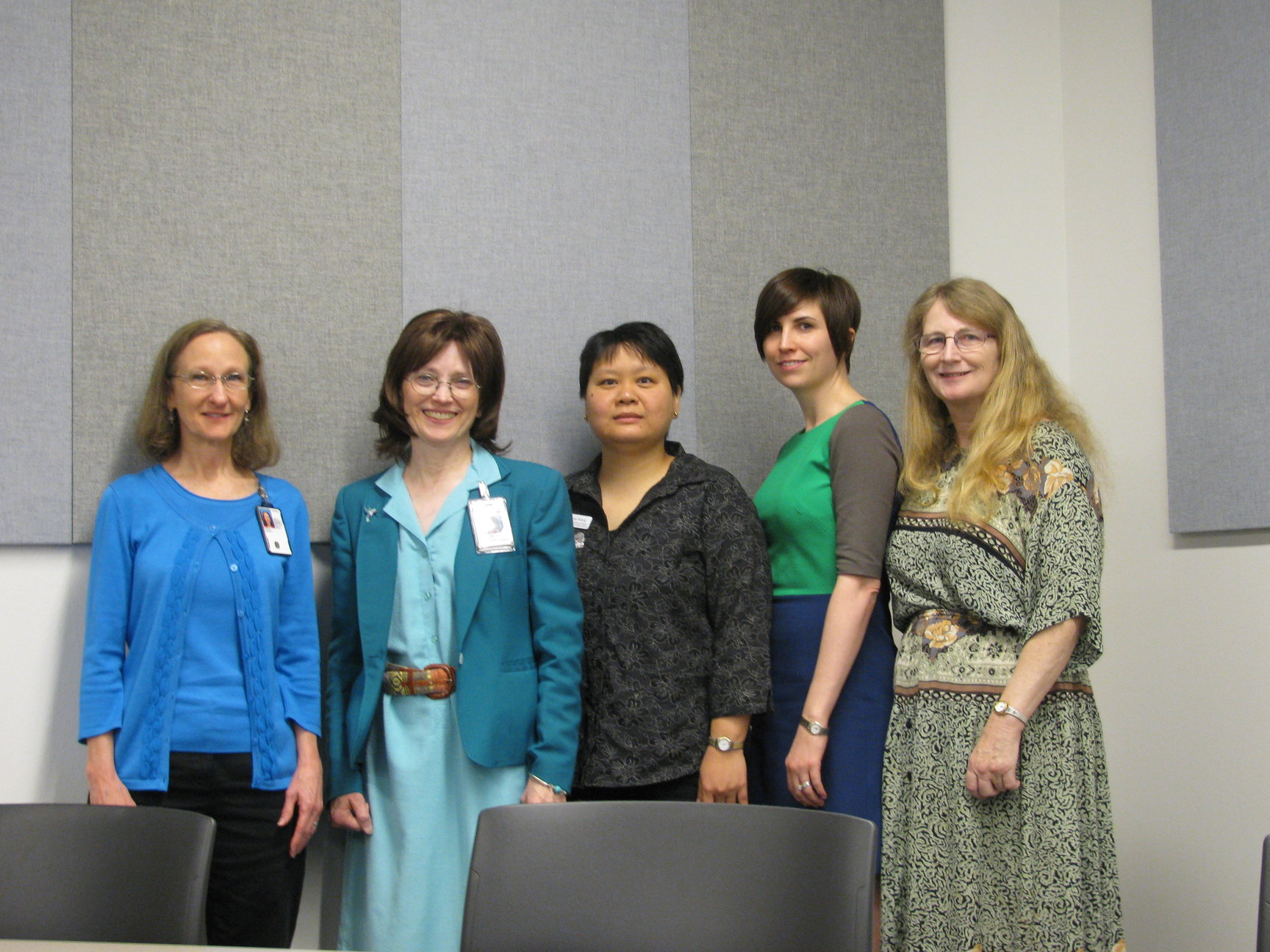 2013 Officers: Teresa Hansen, Treasurer; Mary Peters, Past President; Lisa Huang, President; Shelley Burns, President-Elect; Pat Reese, Secretary